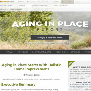 2017 Aging in Place survey